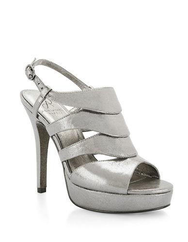 Adrianna Papell Marlene Platform Sandals-GUNMETAL-7