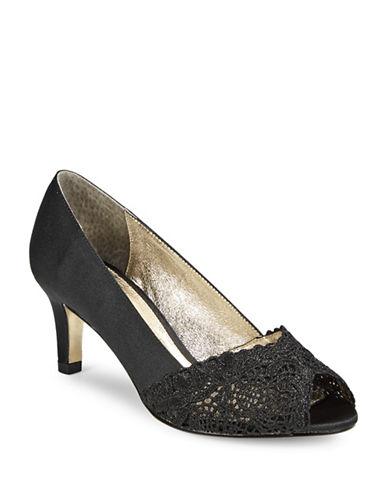 Adrianna Papell Adrianna Peep Toe Pumps-BLACK-5.5