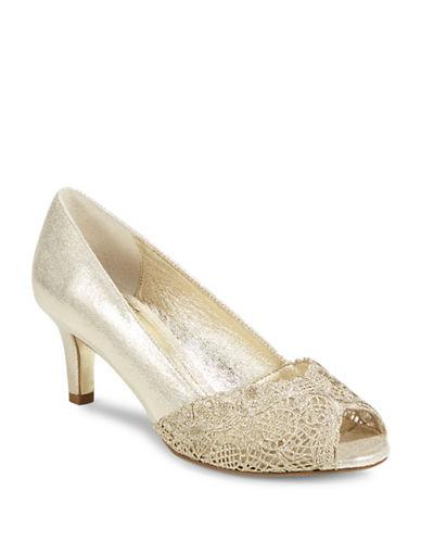 Adrianna Papell Adrianna Peep Toe Pumps-GOLD-9