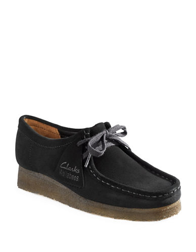 Clarks Originals Wallabees Desert Loafers-BLACK-7.5