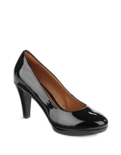 Clarks Brier Dolly Faux-Patent Pumps-BLACK PATENT-7
