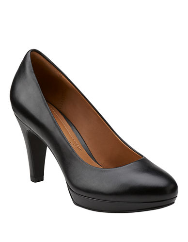 Clarks Brier Dolly Leather Pumps-BLACK-9