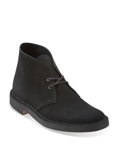 Clarks Originals Suede Desert Boots-BLACK-6