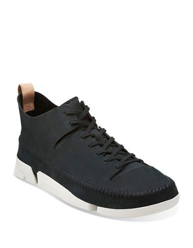 Clarks Trigenic Flex Leather Shoes-BLACK SUEDE-13