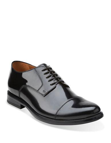 Bostonian Kinnon Cap Toe Shoes-BLACK-7.5