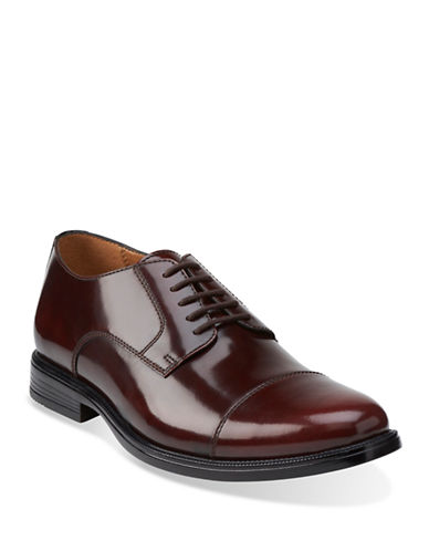 Bostonian Kinnon Cap Toe Shoes-BURGUNDY-8.5