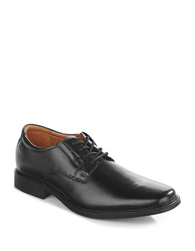 Clarks Tilden Classic Derby Dress Shoe-BLACK-7.5