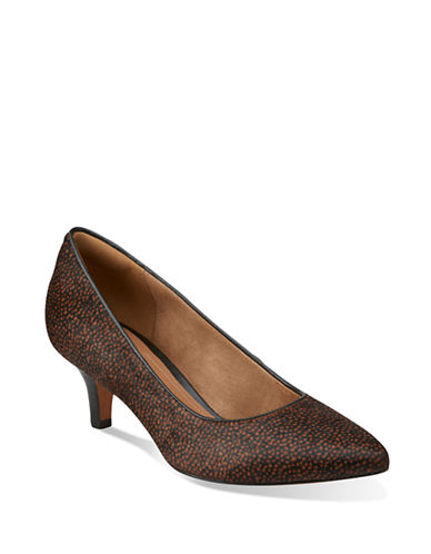 Clarks Artisan Sage Copper Calf Hair Pumps-BROWN-8.5