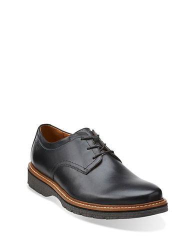 Clarks Newkirk Plain Derbys-BLACK-11.5