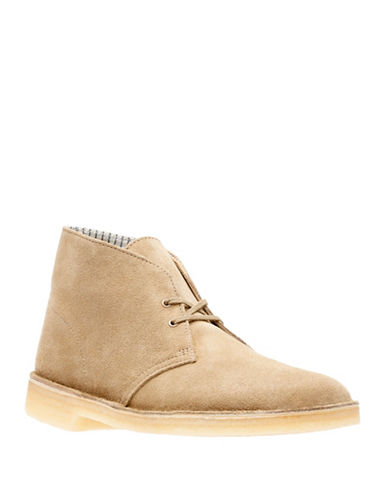 Clarks Originals Lace-Up Suede Desert Boots-OAKWOOD-10.5