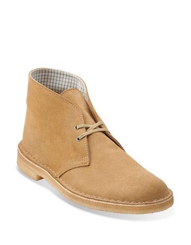 Clarks Originals Suede Desert Boots-BEIGE-7
