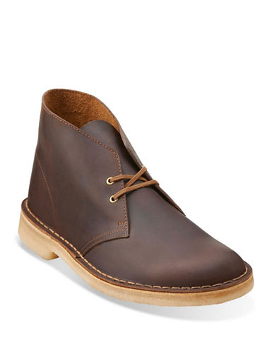 Clarks Originals Leather Desert Boots-BEESWAX-7