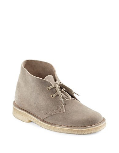 Clarks Originals Suede Desert Boots-TAUPE-6.5