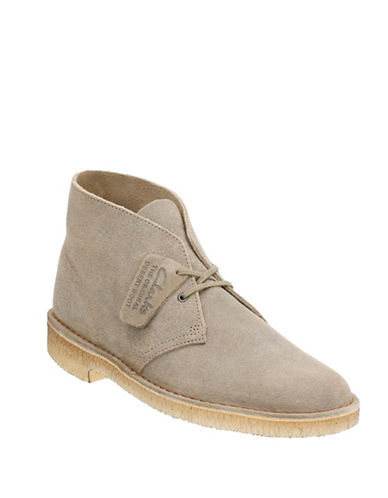 Clarks Originals Wallabee Leather Boots-BEIGE-9.5
