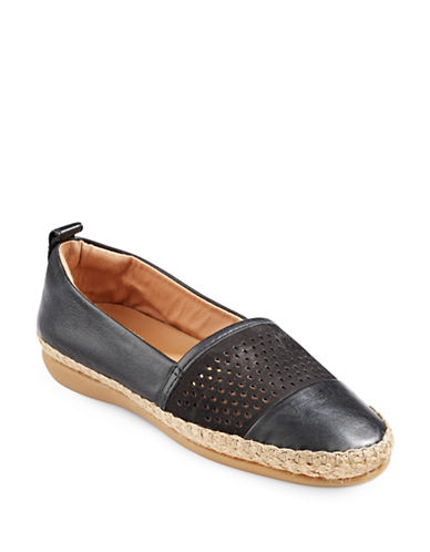 Clarks Artisan Artisan Espadrille Shoes-BLACK LEATHER-5