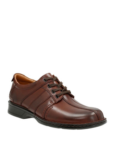Clarks Touareg Vibe Dress Shoes-BROWN-11