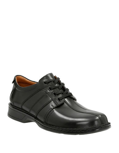 Clarks Touareg Vibe Dress Shoes-BLACK-11.5