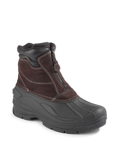 Clarks Crewson Vibe Suede Zip-Up Boots-BROWN-8