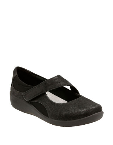 Cloudsteppers By Clarks Sillian Bella Shoes-BLACK-8.5W