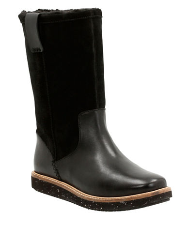 Clark Artisan Artisan Glick Emfield Leather and Suede Boots-BLACK-8.5 88626760_BLACK_8.5