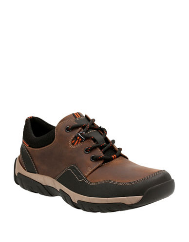 Clarks Walbeck Edge Sneakers-BROWN-10.5