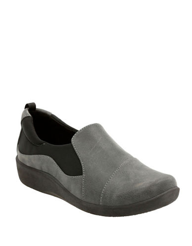 Cloudsteppers By Clarks Cloudsteppers Slip-Ons-GREY-11