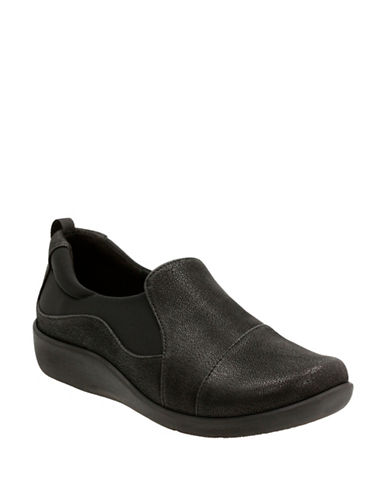 Cloudsteppers By Clarks Cloudsteppers Slip-Ons-BLACK-7.5