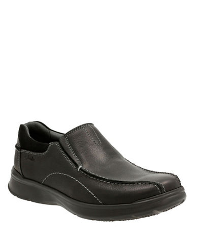 Clarks Cotrell Step Leather Shoes-BLACK-8.5