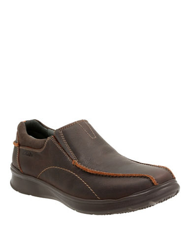 Clarks Cotrell Step Leather Shoes-BROWN-9