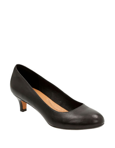 Clarks Artisan Heavenly Shine Leather Pumps-BLACK LEATHER-7