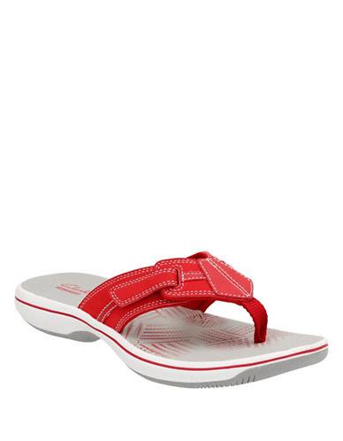 Clarks BRINKLEYBREE Flip Flops-RED-7