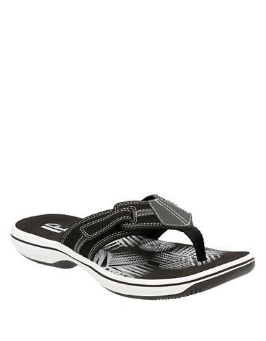 Clarks BRINKLEYBREE Flip Flops-BLACK-9