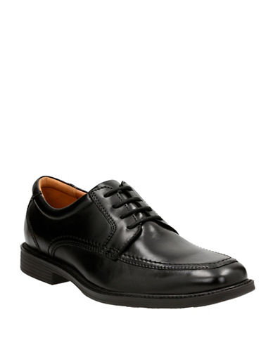Bostonian Hazlet Pace Leather Oxford Shoes-BLACK-8