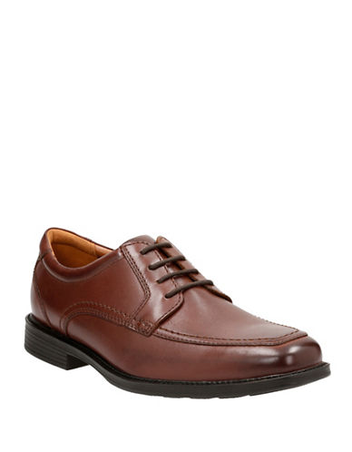 Bostonian Hazlet Pace Leather Oxford Shoes-BROWN-13