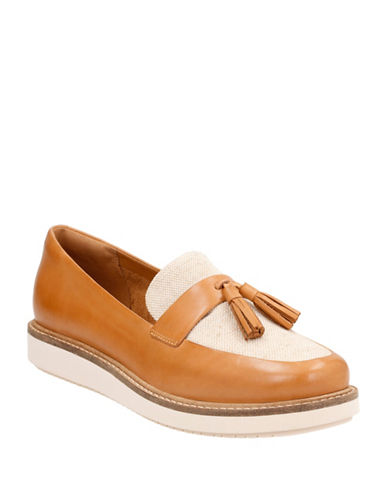 Clarks Artisan Cushion Plus Glickcastine Leather Loafers-LIGHT TAN-10