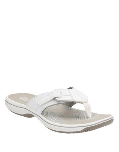 Clarks BRINKLEYBREE Flip Flops-WHITE-5