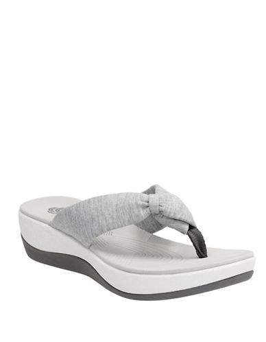 Cloudsteppers By Clarks CushionSoft Cloudsteppers Arla Glison Flip Flops-GREY-10