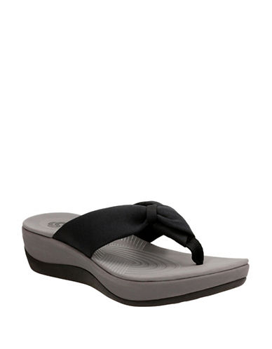 Cloudsteppers By Clarks CushionSoft Cloudsteppers Arla Glison Flip Flops-BLACK-11