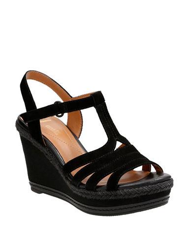 Clarks Zia Reign Sandals-BLACK SUEDE-7