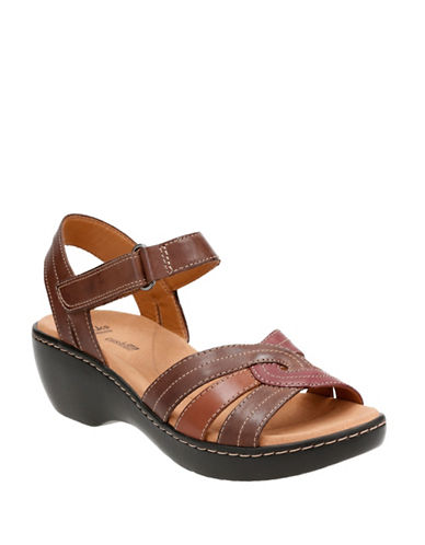 Clarks Delana Varro Strappy Sandals-BROWN-8