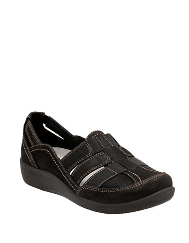 Cloudsteppers By Clarks Sillian Stork Cloudsteppers Shoes-BLACK-8.5