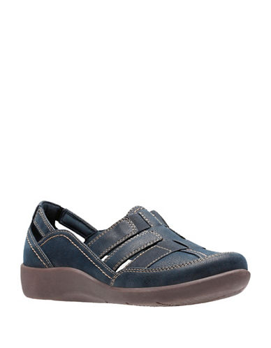 Cloudsteppers By Clarks SIllian Stork Sandals-NAVY-9