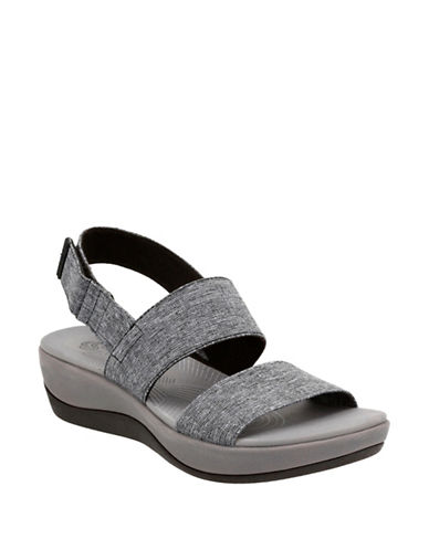 Cloudsteppers By Clarks Arla Jacoy Sandals-BLACK/WHITE-8