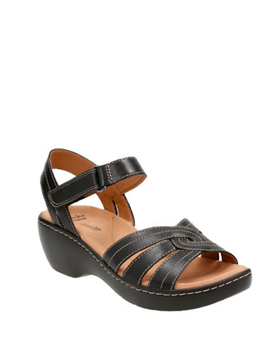 Clarks Delana Varro Strappy Sandals-BLACK-6W