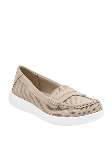 Cloudsteppers By Clarks Jocolin Maye Perforated Loafers-SAND-8