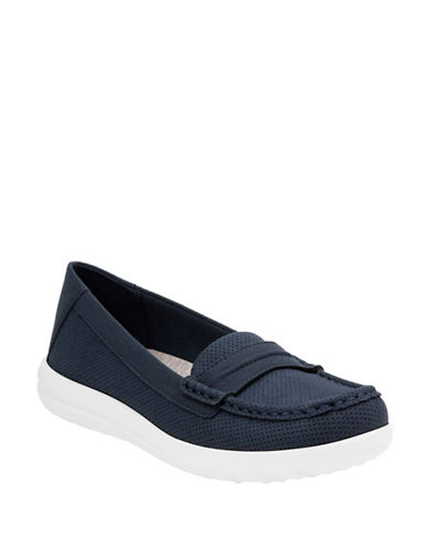 Cloudsteppers By Clarks Jocolin Maye Perforated Loafers-NAVY-5.5