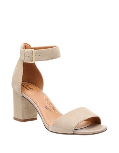 Clarks Deva Mae Block Heel Sandals-SAND-6