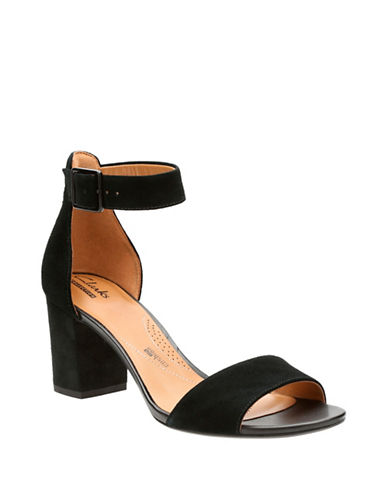 Clarks Deva Mae Block Heel Sandals-BLACK-7