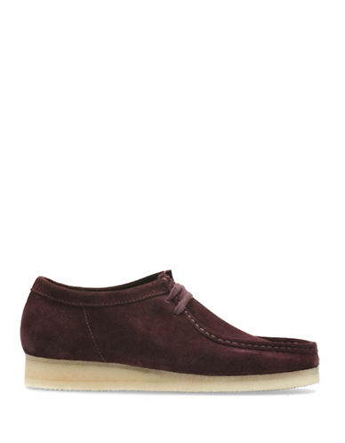 Clarks Originals Wallabee Suede Casual Shoes-RED-7.5
