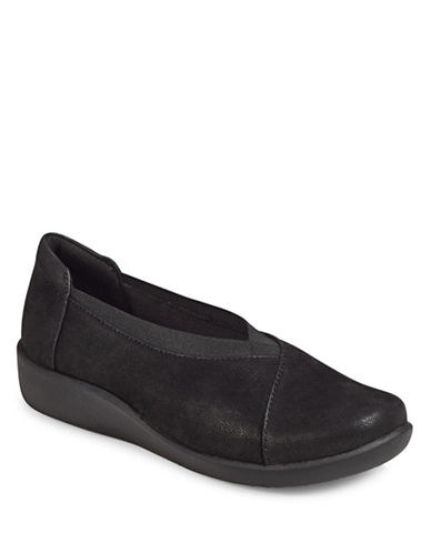 Cloudsteppers By Clarks Holly Flat Shoes-BLACK-8W